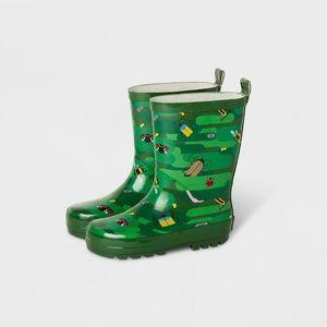Kids' Bug Camo Garden Rain Boots Green